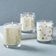Gilded Deco Scented Candles #westelm