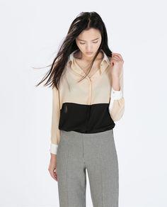 ZARA Donna | Camicia bicolore
