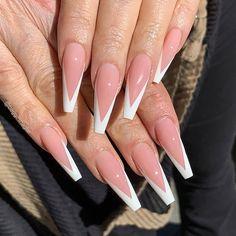 French Tip Acrylic Nails, Bling Acrylic Nails, Acrylic Nails Coffin Short, Simple Acrylic Nails, Square Acrylic Nails, Glam Nails, Summer Acrylic Nails, Best Acrylic Nails, Acylic Nails