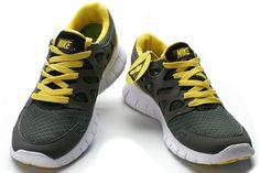 wholesale dealer 1e115 d3535 Hot Nike Free Run+ 2 2012 Uomini Scarpe Giallo Grigio Scuro Giallo E  Grigio, Scarpe