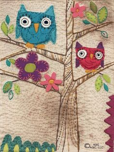 Quilted Owls, by me.