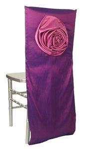 Bella Taffeta Plum with Rose Chair Sleeve