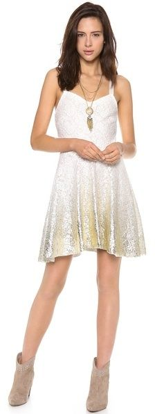 Free People Foil Ombre Lace Fit N Flare Dress on shopstyle.com