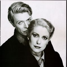 Catherine Deneuve  David Bowie #BellesDeJour #netaporter