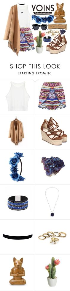 """""""Yoins"""" by roxeyturner ❤ liked on Polyvore featuring Charlotte Russe, NOVICA, Le Specs, yoins and loveyoins"""