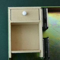 Make A Simple Dollhouse Miniature Night Table With A Drawer or Shelving: Fit A Drawer Support or Upper Shelf Into the Dollhouse Night Table