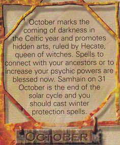 Magick Spells:  #Correspondences ~ October.