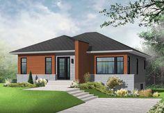 Contemporary Modern House Plan 76346