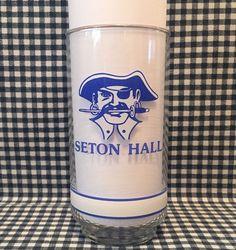 Vintage Seton Hall Pirates Basketball 5.5 Inch Drinking Glass Big East Getty VTG #SetonHallPirates