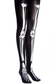 skeleton clothes | Skeleton Bone Tights - Socks & Tights