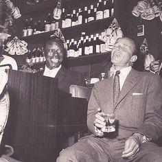 Nat King Cole and Frank Sinatra at Villa Capri, 1955~ cool as hell!