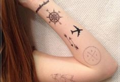bussola com mapa tatuagem - Pesquisa Google