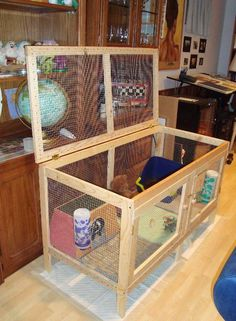 Indoor Rabbit Housing - Bunny Approved - House Rabbit Toys, Snacks, and Accessories Diy Bunny Cage, Diy Guinea Pig Cage, Guinea Pig Hutch, Bunny Cages, Pet Guinea Pigs, Rabbit Cages, Rabbit Toys, Pet Rabbit, Rabbit Cage Diy