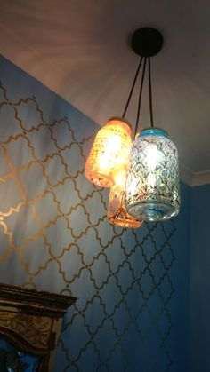 Light in our Moroccan guest loo