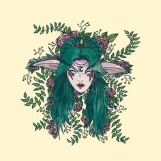 This is a fanart of Tyrande Whisperwind, from the Warcraft franchise. I love this game and wanted to pay some tribute to it This is part of my Wildflowers Collection Types Of Elves, Wow World, Night Elf, Heroes Of The Storm, Fantastic Art, World Of Warcraft, Animal Crossing, Wall Tapestry, Art Reference