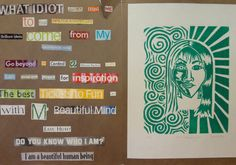 LOVE LOVE LOVE! Collage Poetry & Self-Portrait Print. Really love the poetry idea to change up 8th grade expressive SP project.