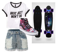 """Untitled #98"" by yangkasiarose ❤ liked on Polyvore featuring H&M, LE3NO and Vans"