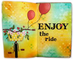 Enjoy The Tide - Art Journal Double Page