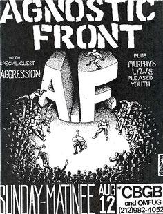 Agnostic Front, Murphy's Law CBGB punk hardcore flyer