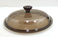 PYREX Corningware Visions V-1.5-C Round Lid - Brown/Amber Glass V-15-C #MidCenturyModern V 15, Amber Glass, Pyrex, Midcentury Modern, Kitchen Appliances, Store, Brown, House, Ebay