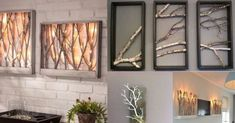 fogott-nehany-szaraz-faagat-senki-nem-gondolta-mire-fogja-hasznalni Branch Decor, Diy Wall Art, Craft Stick Crafts, Candle Sconces, Wall Lights, Mirror, Lighting, Candles, Interior