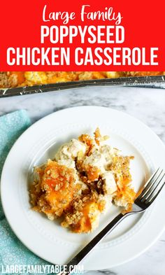 Poppyseed Chicken Casserole Poppy Seed Chicken Casserole, Large Family Meals, Dinner Recipes, Dinner Ideas, Cream Of Chicken Soup, Everyday Food, Stick Of Butter, How To Cook Chicken, Casserole Dishes