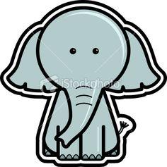 Elephant icon Royalty Free Stock Vector Art Illustration