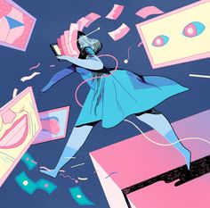 """Illustration for The Atlantic for the article """"Why Is Dating in the App Era Such Hard Work?"""" Thanks to AD Zak Bickel"""