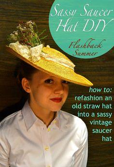 Flashback Summer: Sassy Straw Saucer Hat DIY