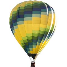 A cut out green and yellow hot air balloon. You probably could have inferred that from the title.