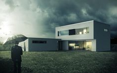 Family houses, Slovakia by Matus Nedecky, via Behance