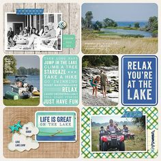 Becky Higgins project life outdoors kit.Layout by Creative Team Member Jenn McCabe. Love the use of cards...
