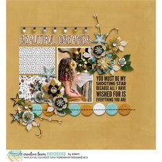 BEAUTIFUL DREAMER pretties by ForeverJoy Designs BEAUTIFUL DREAMER paper pack by ForeverJoy Designs December Memories 2016 - Layered Template Album | Designed by Soco