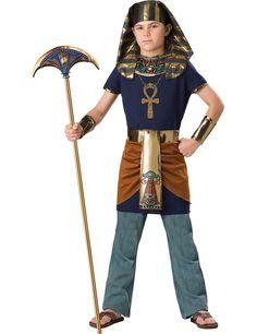 Deluxe Kinder-Kostüm Ägyptischer Pharao dunkelblau-gold , günstige Faschings Kostüme bei Karneval Megastore, der größte Karneval und Faschings Kostüm- und Partyartikel Online Shop Europas!