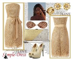 """""""Simpledress 3"""" by nejrasehicc ❤ liked on Polyvore featuring Amrita Singh, Bulgari and simpledress"""