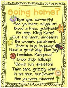 This fun sign has been hanging by my door for six years and I've just now jazzed it up with new graphics and wanted to share it with you!At the end of the day as my kiddos leave, if they say one of these to me, I'll say one back.They LOVE it... especially when I'm prepared to say one and they say it to me first and catch me tongue tied as I scramble to think of something else! :)Enjoy it for free!