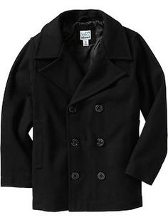 Boys Wool-Blend Peacoats...I have to get my son one of these