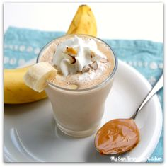 perfect after workout snack: peanut butter banana smoothie
