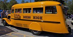 1936 Chevy School Bus - Lonestar Rod Run, Old Town Spring, Texas (by Bill Jacomet, via Flickr)