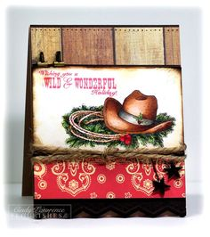 Awesome new stamp set at Flourishes for all those cowgirls out there!!!