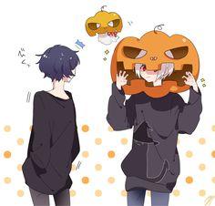 -ˋˏ T u b a r u r u r u.  ᘞ Anime Boy Smile, Cute Anime Boy, Art Anime, Manga Anime, Vocaloid, Neko Kawaii, Stray Dogs Anime, People Illustration, Halloween Photos