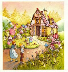 An illustrated collection of fifteen tales from the brothers Grimm, retold for younger readers. Hansel Et Gretel Conte, Hansel Y Gretel, Hans Gretel, Candy House, Saint Nicolas, Brothers Grimm, Grimm Fairy Tales, Crochet Fairy, Children's Book Illustration