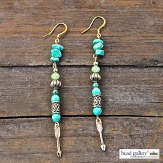 DIY Bohemian Groove Earrings featuring #Beadgallery beads and #arrow charms available at @michaelsstores #madewithmichaels