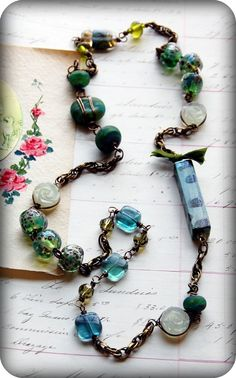 Earth Awakens wirework necklace by Cindy Wimmer cindywimmer.com
