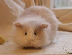 Needled Felted Teddy Bear Hamster (and other crazy cute animal patterns)