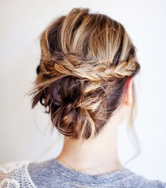 Messy Braided Bun & 9 other fantastic up-dos for those of us with above shoulder length hair