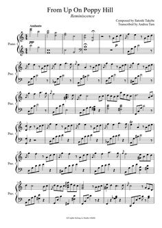 Sheet music made by mozartandi2 for Piano