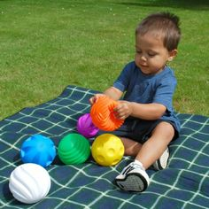 A lovely tactile ball set