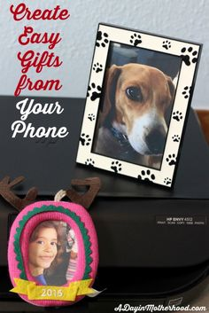 Super Easy Photo Gifts Printed From Your Phone Free Holiday Printables Ad Hp Walmart Handmade Gifts For Husband, Handmade Birthday Gifts, Gifts For Kids, Homemade Teacher Gifts, Homemade Gifts, Holiday Gift Guide, Holiday Gifts, Holiday Ideas, Teacher Appreciation Gifts
