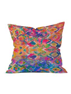 Amy Sia Watercolor Ikat 3 Throw Pillow by DENY Designs at Gilt